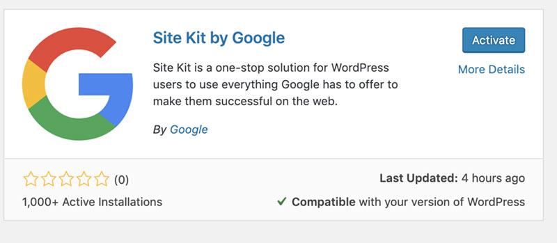 如何设置Google Site Kit WordPress插件-WordPress安装教程
