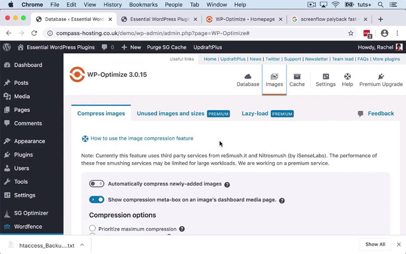 如何安装和配置WP-Optimize插件,并说明它如何帮助加快WordPress网站的速度-WordPress安装教程